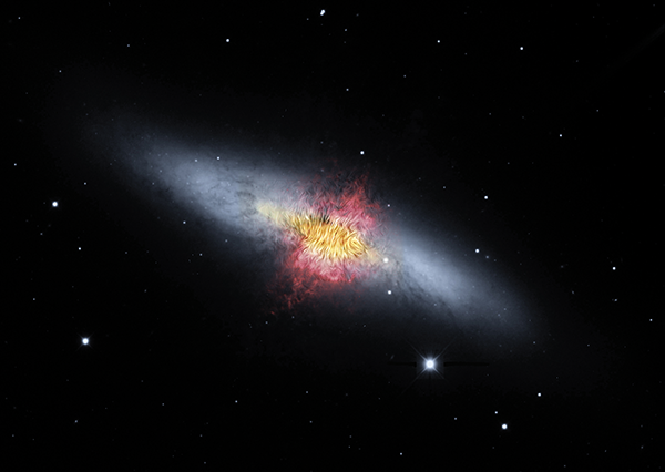 Composite image of the Cigar Galaxy