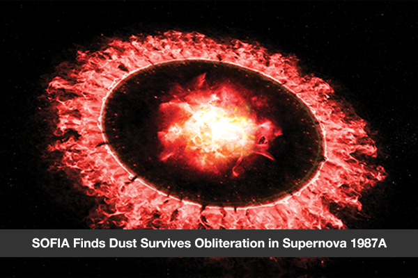 SOFIA Finds Dust Survives Obliteration in Supernova 1987A
