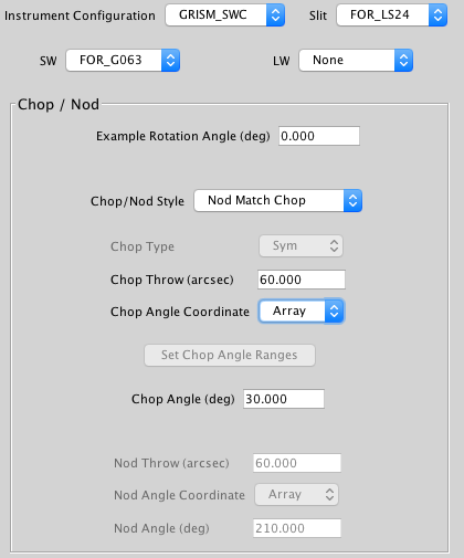 Instrument configuration portion screenshot