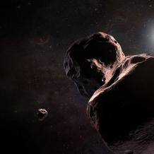 Artist's impression of New Horizons approaching MU69