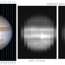 Jupiter observed by FORCAST