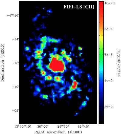 SOFIA [C II] Map of M51