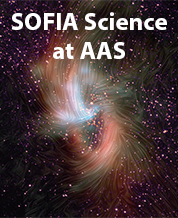 """Galactic Center image with title """"SOFIA Science at AAS"""""""