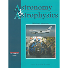 Astronomy and Astrophysics journal cover