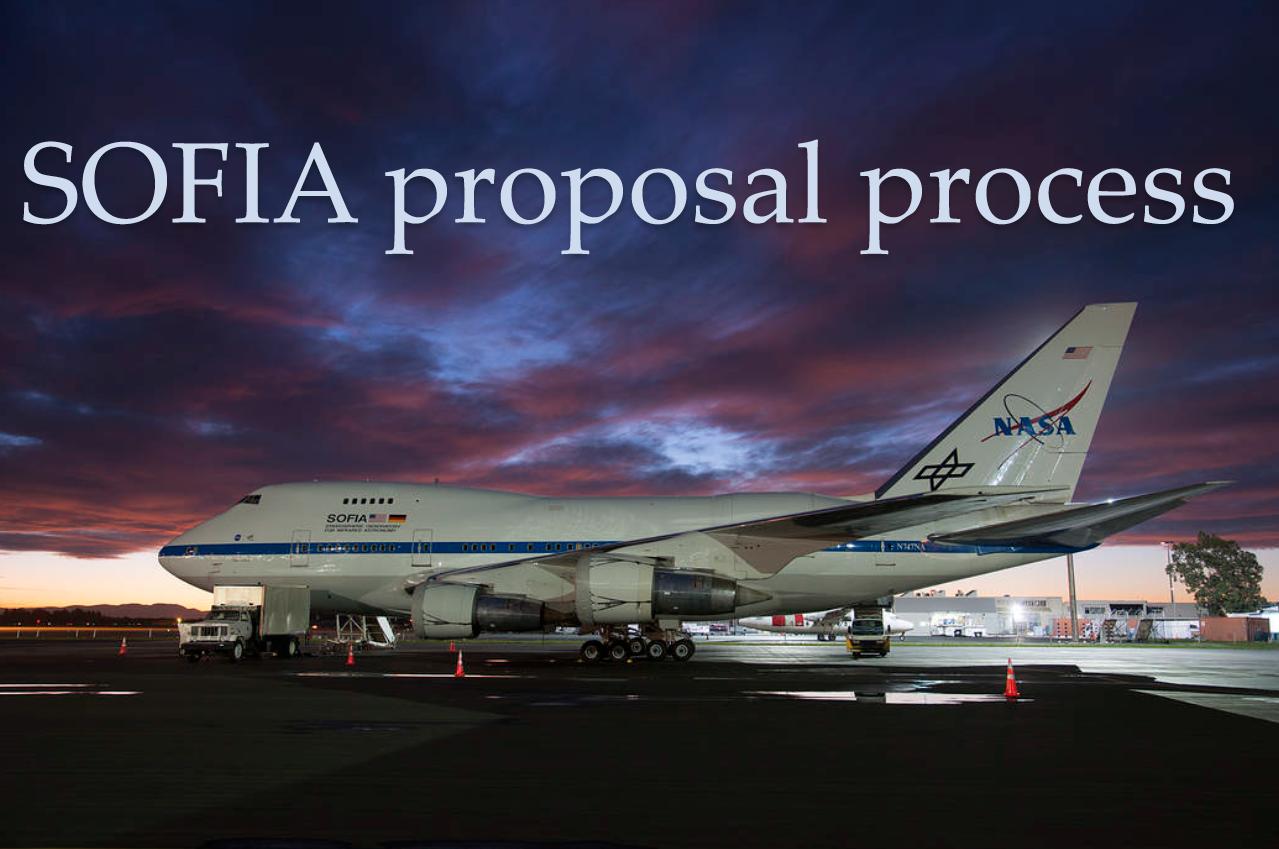 SOFIA Proposal Process