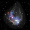 Composite image of the nebula RCW 120