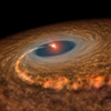 Artist's impression of a stochastic accretion event