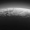 Pluto horizon showing atmosphere