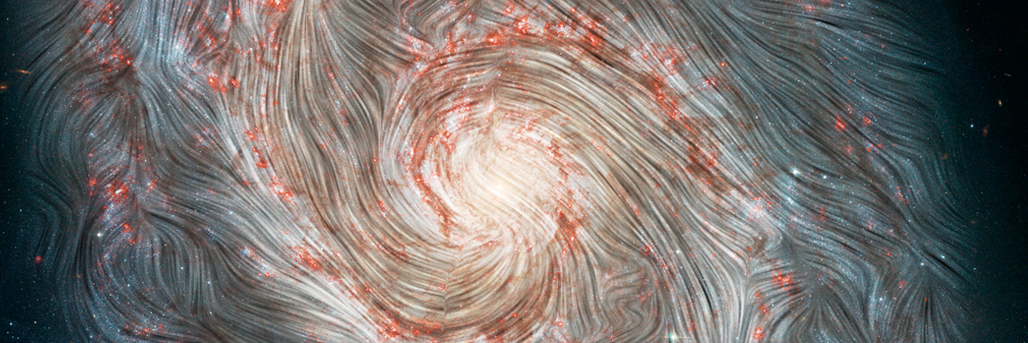 Magnetic Chaos Hidden Within the Whirlpool Galaxy