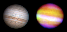 Jupiter in visible and infrared