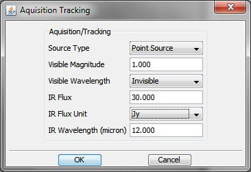 Aquisition Tracking screenshot