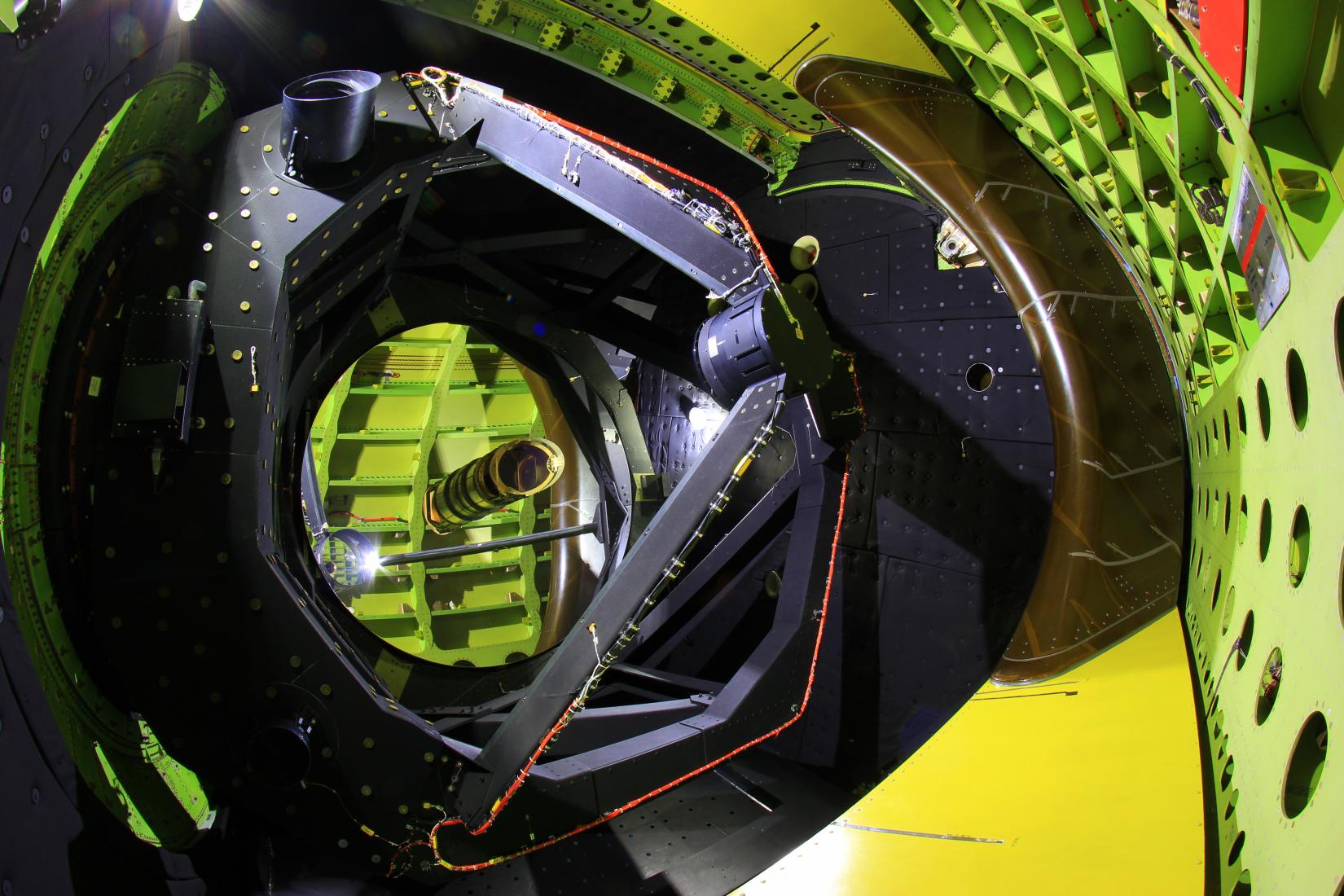 SOFIA telescope inside cavity