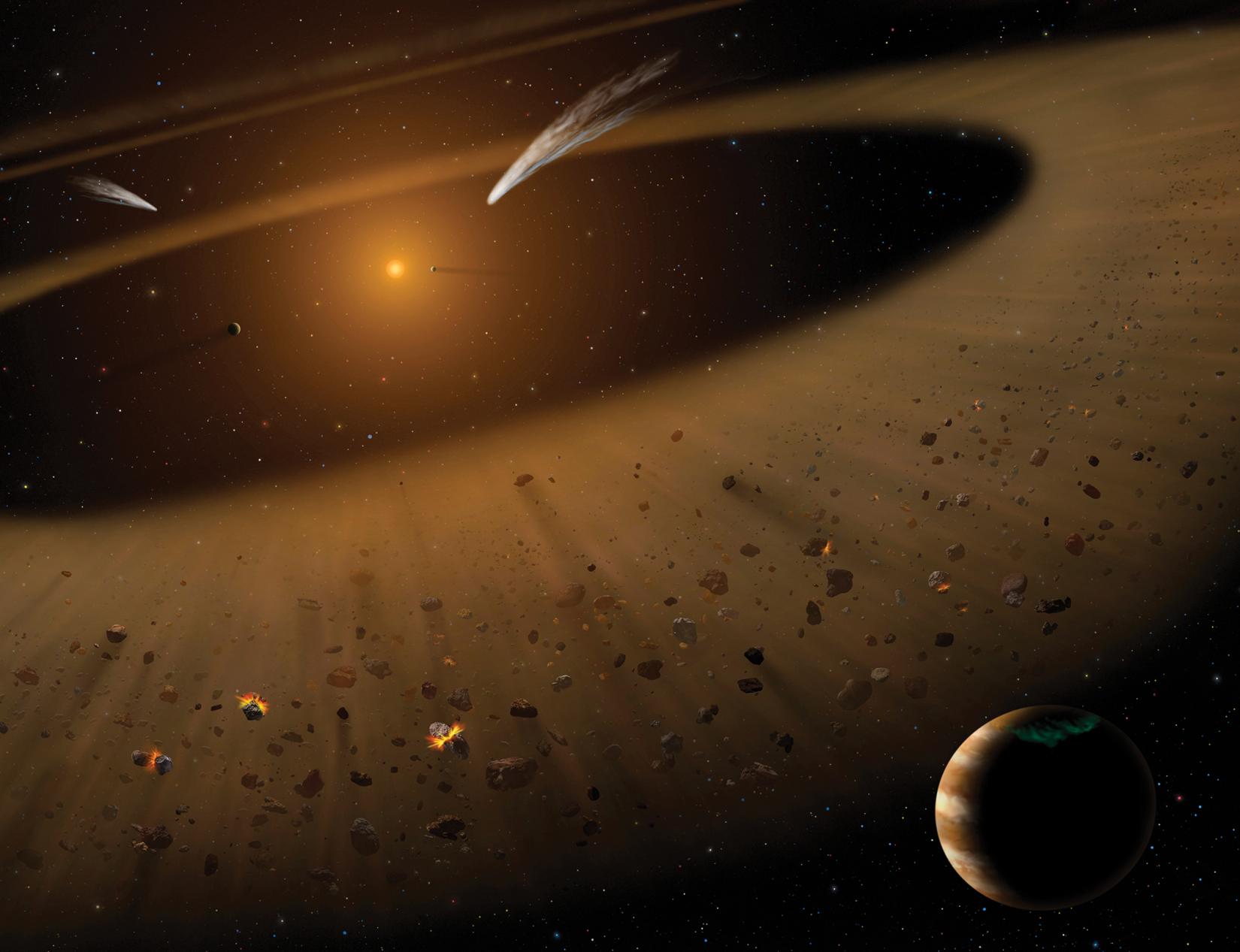 Artist's impression of the Epsilon Eridani system