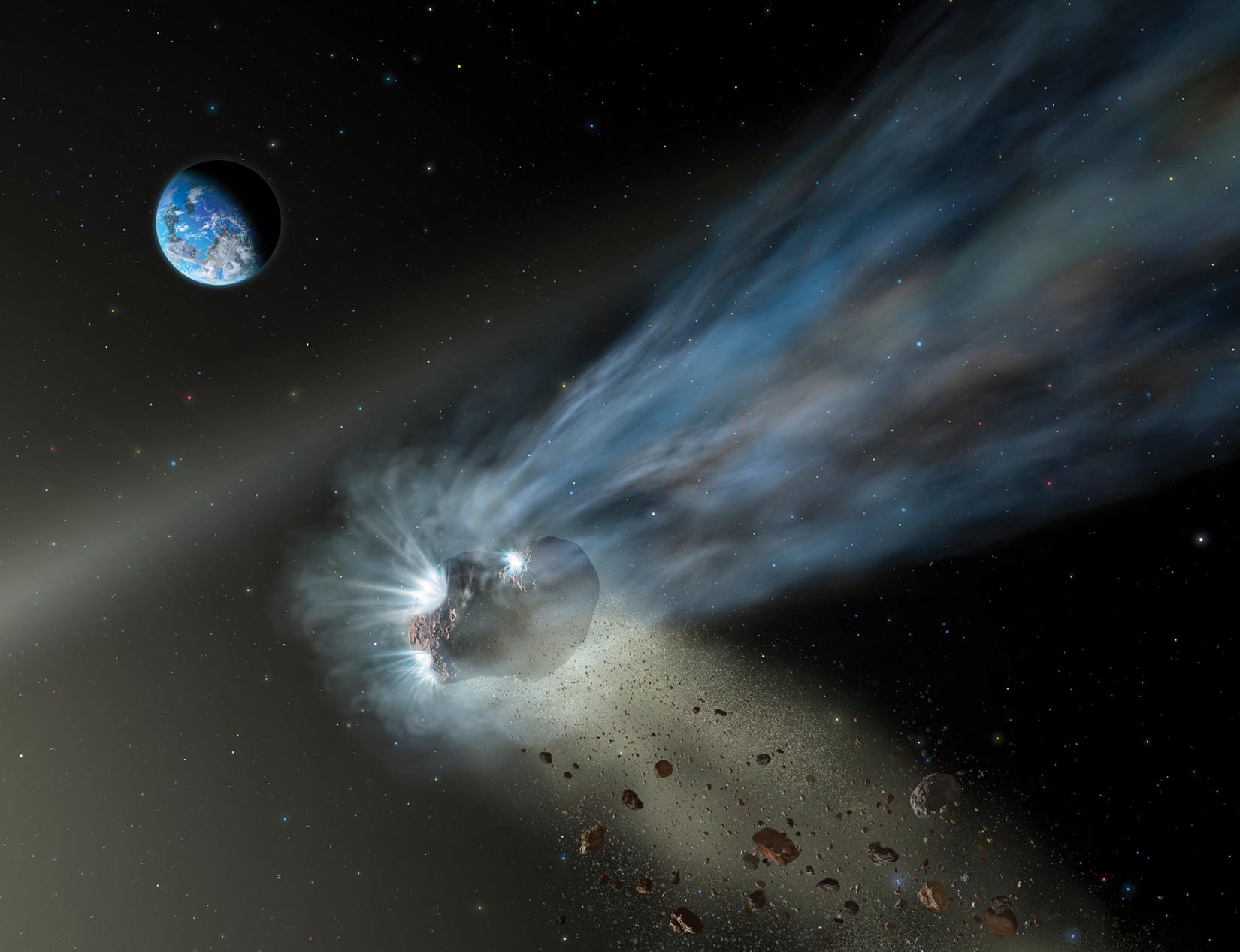 Artist's impression of Comet Pan-STARRS