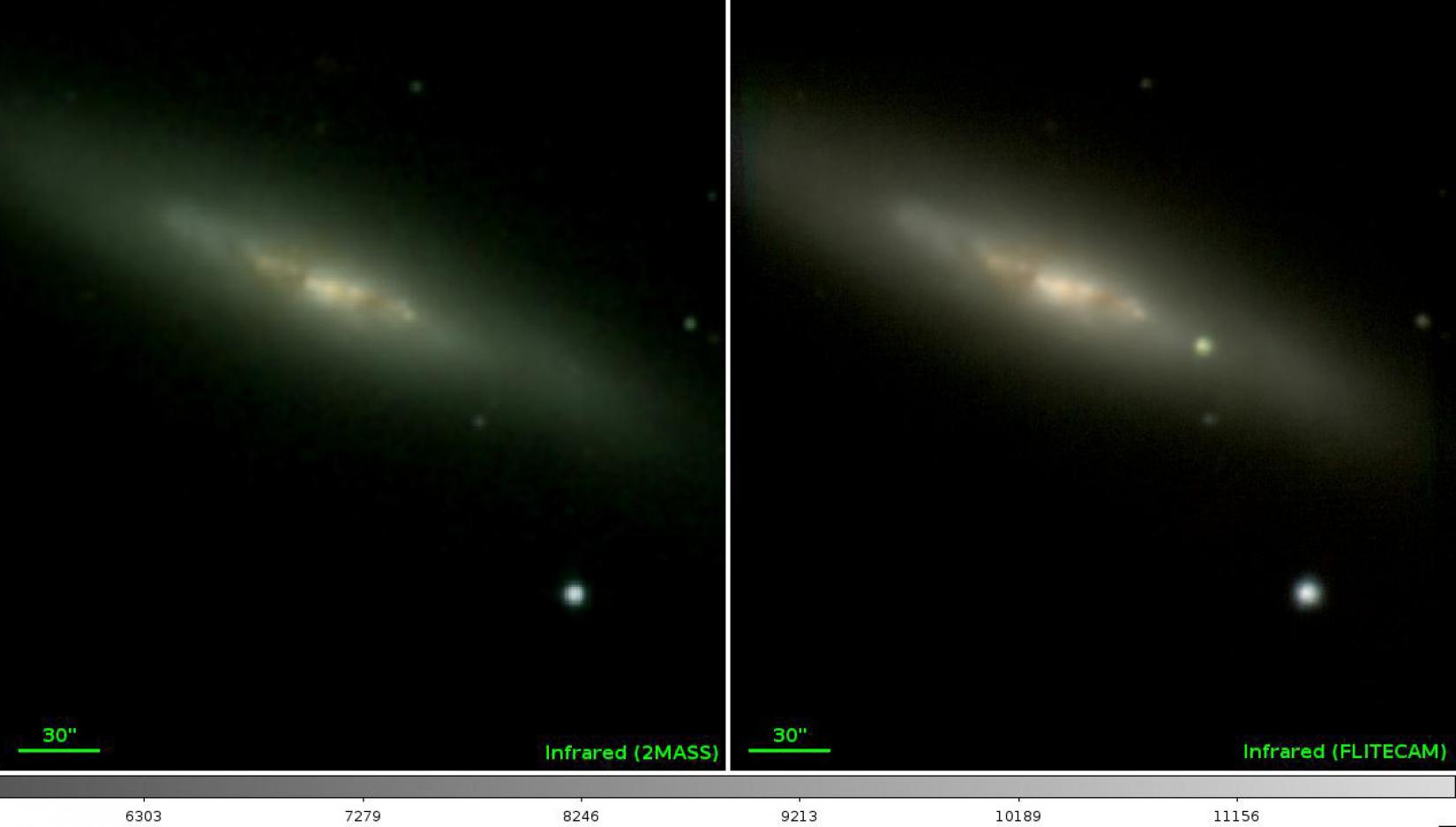 SOFIA near-IR image of Supernova 2014J