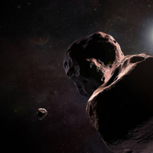 Artist's impression of New Horizons approaching MU69
