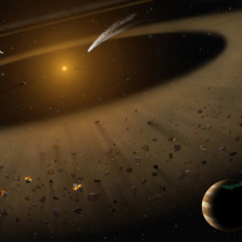 Artist's illustration of the Epsilon Eridani system