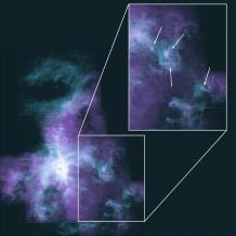 Composite image of the Orion Nebula from SOFIA and the IRAM 30-meter radio telescope
