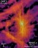Image of polarization measurements capturing the structure of the magnetic field in the Orion star forming region.