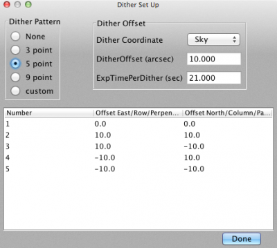 Dither Set Up screenshot