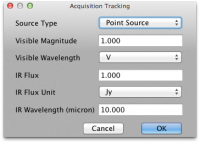 Acquisition Tracking dialog box
